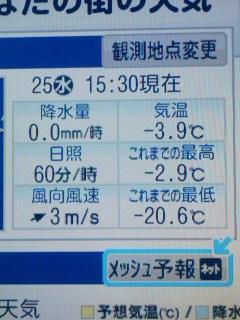 寒気+流氷で